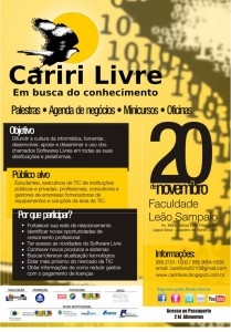 Flyer do I Cariri Livre